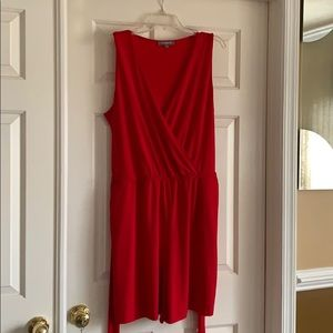 NY Collection Red Romper